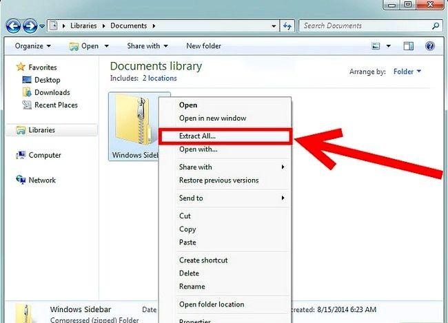 Prent getiteld Kry die Windows Zijbalk Terug in Windows 7 Stap 4