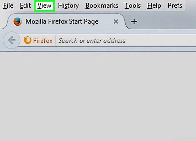 Prent getiteld Verminder teks grootte wanneer u Mozilla Firefox Stap 2 gebruik