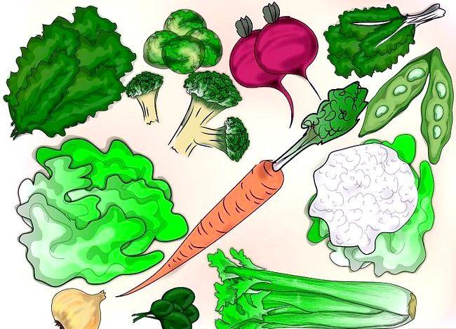 Prent getiteld Groentegroente in die winter Stap 1