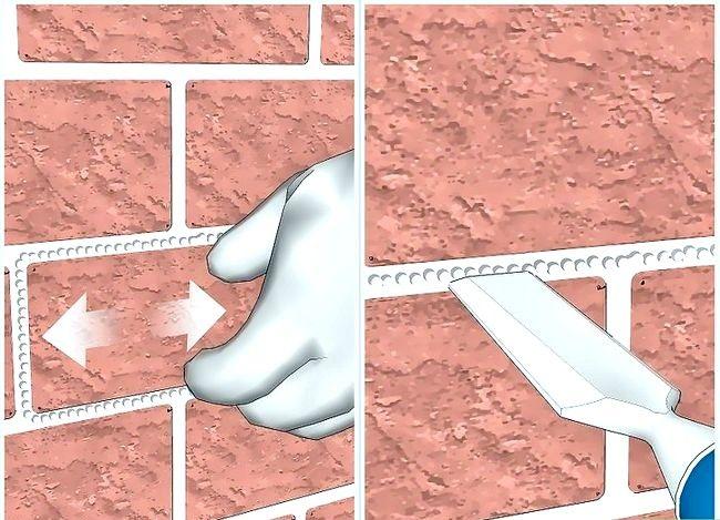Prent getiteld Vervang `n beskadigde baksteen Stap 5