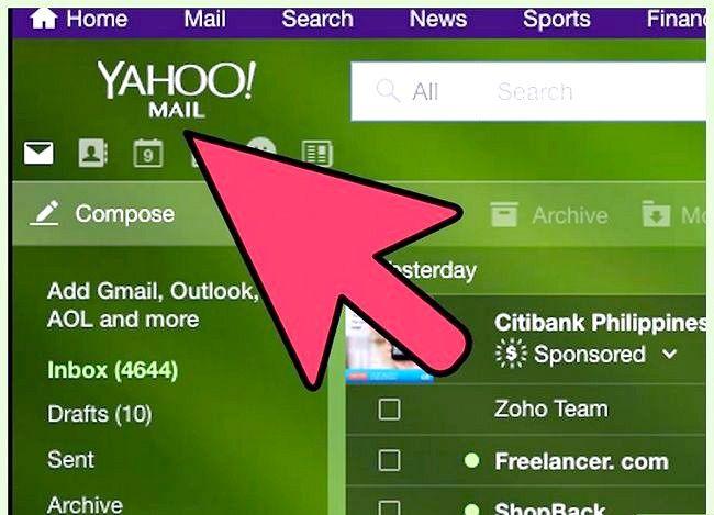 Prent getiteld Stuur Yahoo Mail na Gmail Stap 1