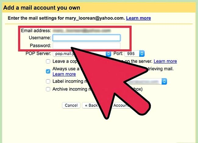 Beeld getiteld Stuur Yahoo Mail na Gmail Stap 16