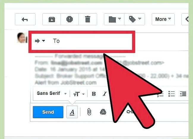 Prent getiteld Stuur Gmail Stap 2