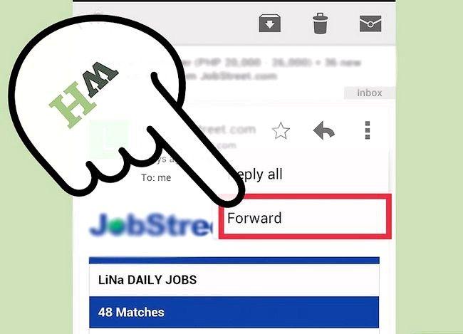 Prent getiteld Forward Gmail Stap 4
