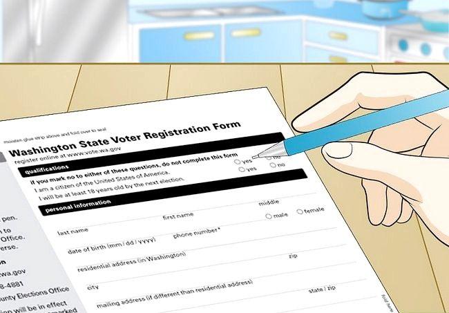 Prent getiteld Registreer om te stem in Washington Stap 11