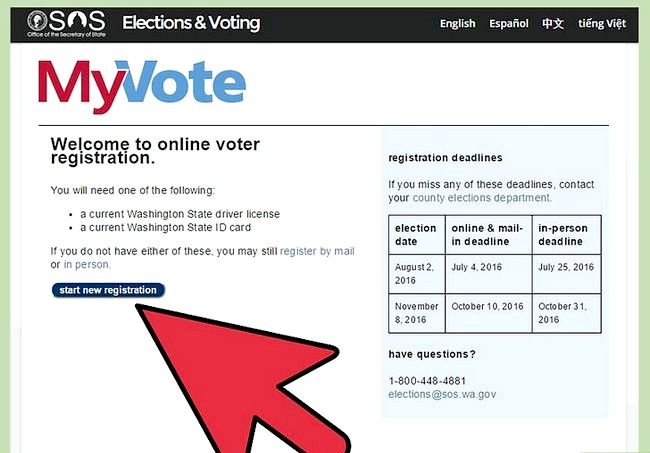 Prent getiteld Registreer om te stem in Washington Stap 4