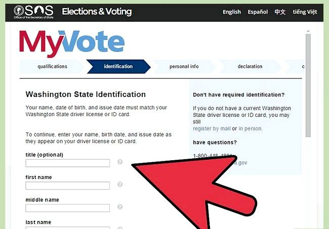 Prent getiteld Registreer om te stem in Washington Stap 6