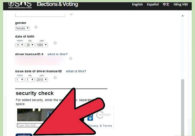 Prent getiteld Registreer om te stem in Washington Stap 8