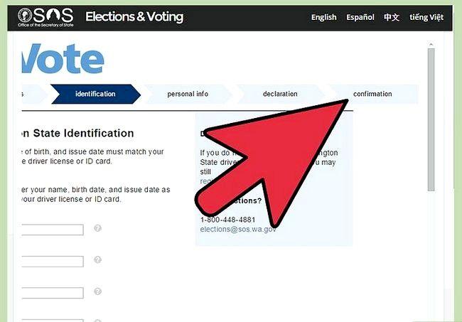 Prent getiteld Registreer om te stem in Washington Stap 9