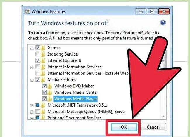 Prent getiteld Installeer Windows Media Player Stap 11 weer