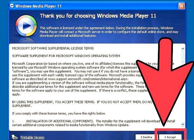 Prent getiteld Installeer Windows Media Player Stap 22 weer
