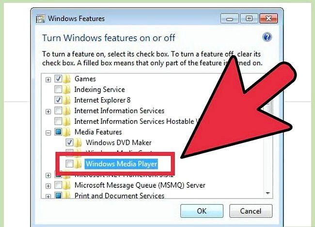 Prent getiteld Installeer Windows Media Player Stap 3 weer