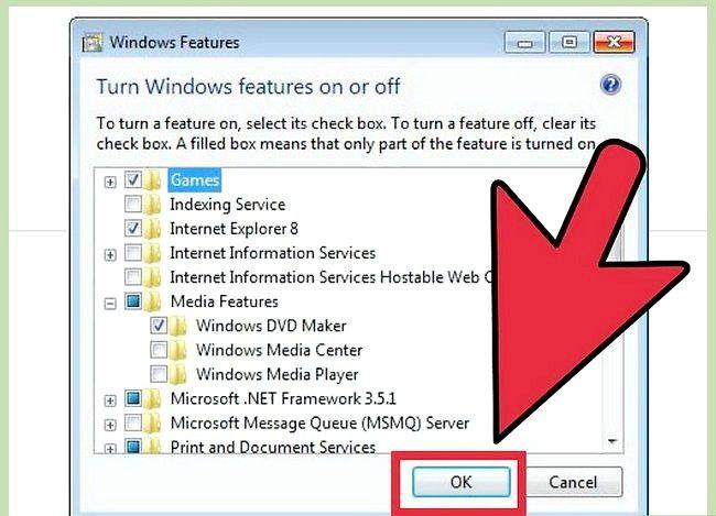 Prent getiteld Installeer Windows Media Player Stap 5 weer
