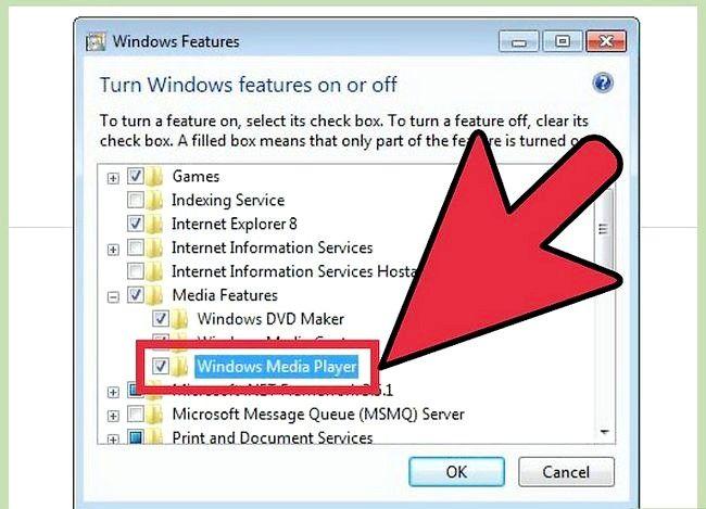 Prent getiteld Installeer Windows Media Player Stap 10 weer