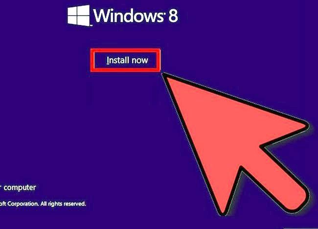 Prent getiteld Installeer Windows 8.1 Stap 7 weer