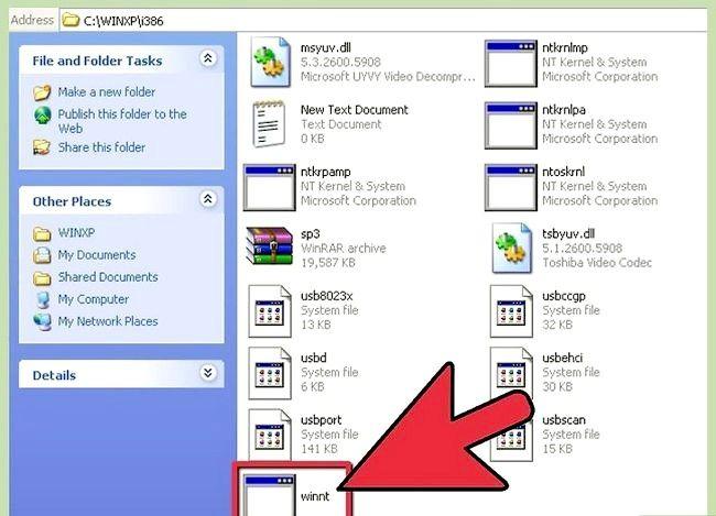 Beeld getiteld Windows XP weer installeer sonder die CD Stap 8
