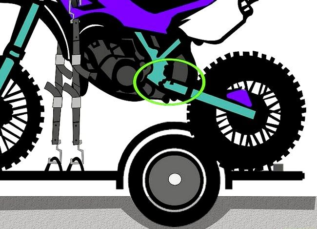 Prent titel Motorfiets Voorskou Stap 9