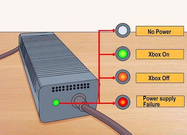 Prent getiteld `n Xbox 360 herstel Nie op stap 2 aangeskakel nie