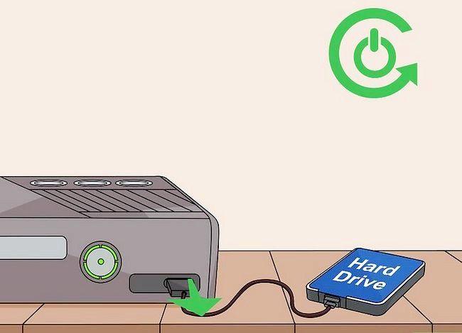 Prent getiteld `n Xbox 360 regmaak Nie op stap 7 aangeskakel nie