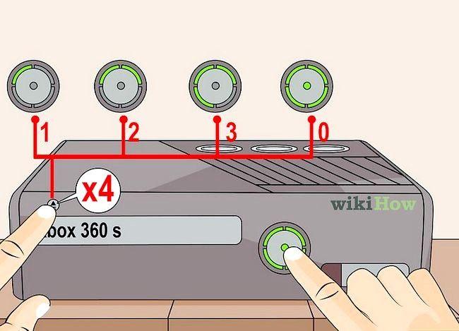 Prent getiteld `n Xbox 360 herstel Nie op stap 10 aangeskakel nie