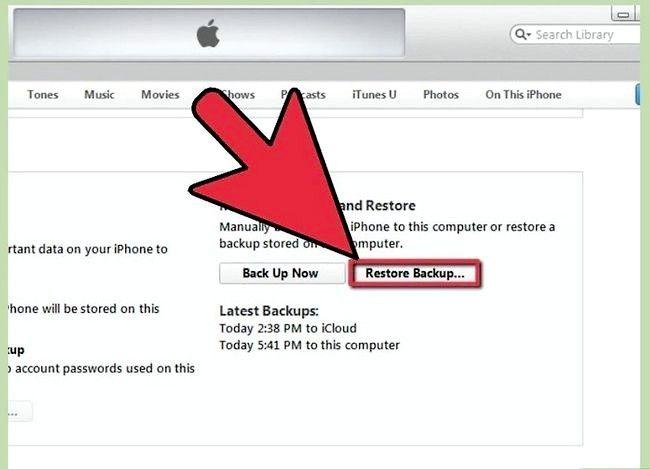 Beeld getiteld Herstel iPhone vanaf Backup Stap 3