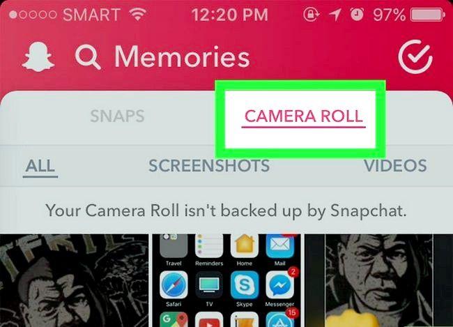 Prent getiteld Rotasie Snapchat Foto`s Stap 17