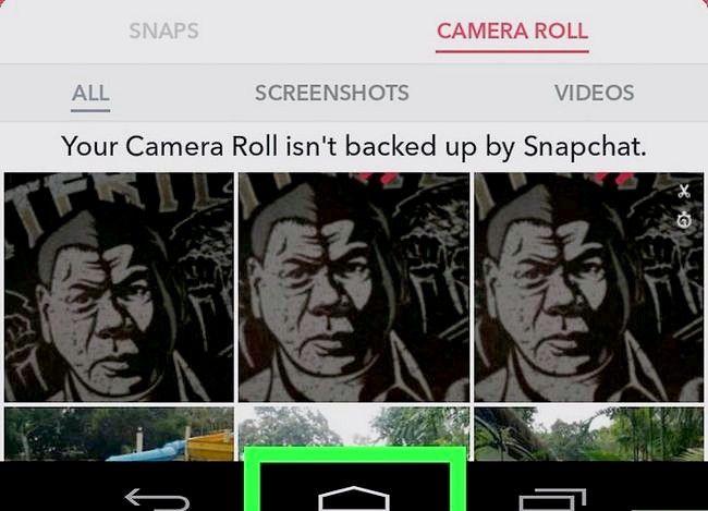 Prent getiteld Rotasie Snapchat Foto`s Stap 27