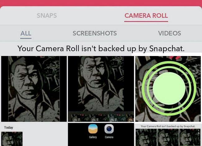 Prent getiteld Rotasie Snapchat Foto`s Stap 36