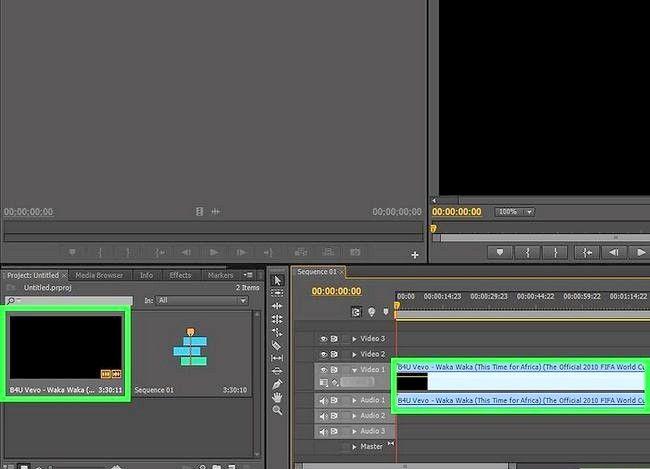 Prent getiteld Rotasie `n video in Adobe Premiere Pro Stap 2