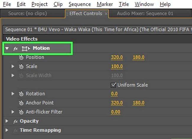 Prent getiteld Rotate `n video in Adobe Premiere Pro Stap 5