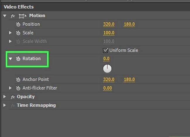 Prent getiteld Rotasie `n video in Adobe Premiere Pro Stap 6