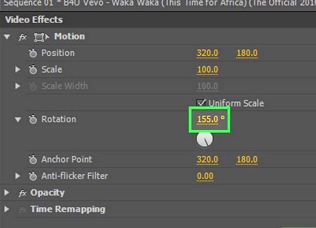 Prent getiteld Rotasie `n video in Adobe Premiere Pro Stap 7