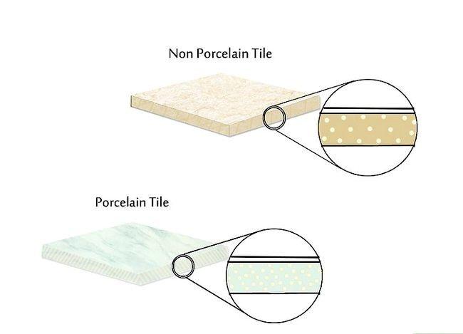 Prent getiteld Vertel die verskil tussen porselein en keramiek teëls Stap 1