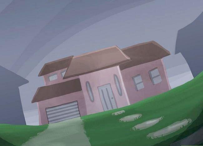 Beeld getiteld sluip uit `n huis met luide deure Stap 8
