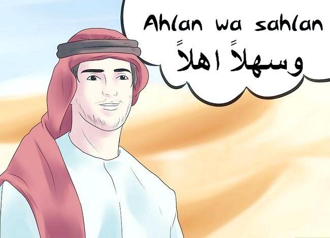 Prent getiteld Groet in Arabies Stap 1