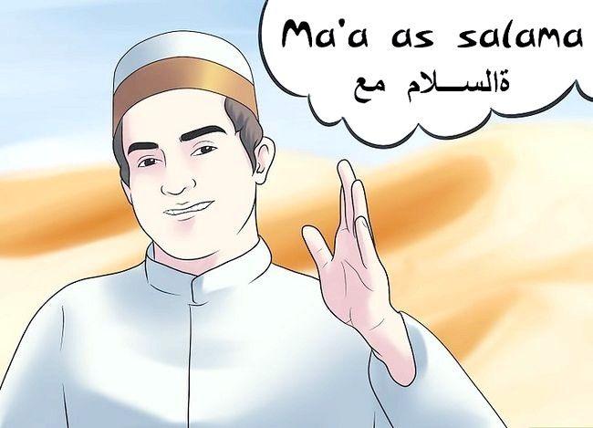 Prent getiteld Groet in Arabies Stap 13
