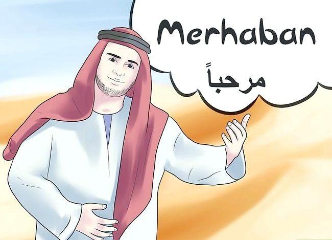 Prent getiteld Groet in Arabies Stap 2