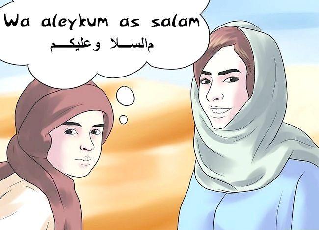 Prent getiteld Groet in Arabies Stap 4
