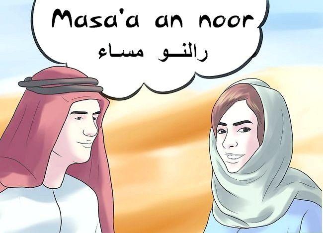Prent getiteld Groet in Arabies Stap 10