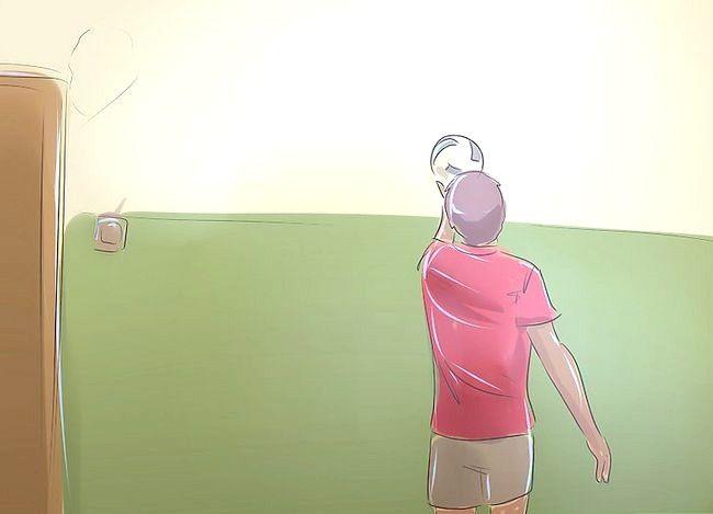 Prent getiteld Wees goed op volleybal Stap 11