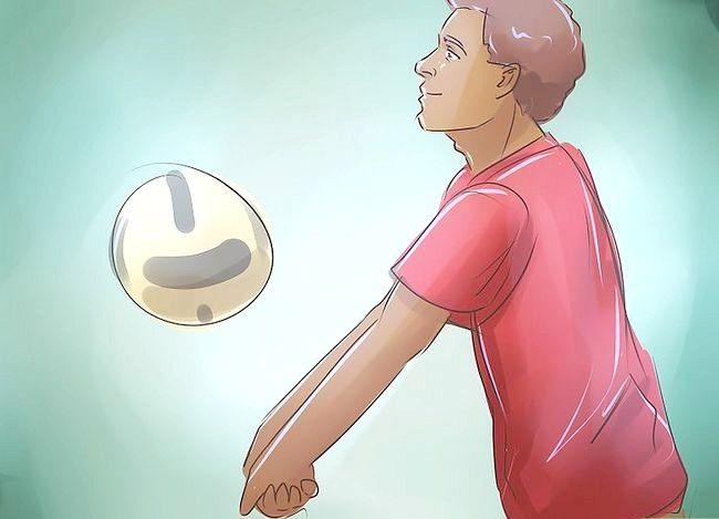 Prent getiteld Wees goed op volleybal Stap 12