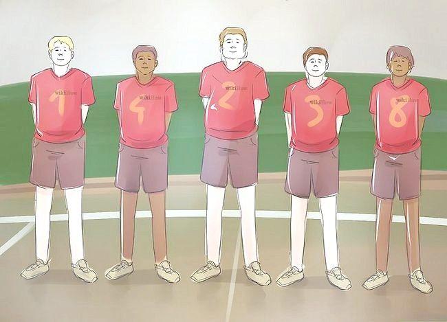 Prent getiteld Wees goed op volleybal Stap 27