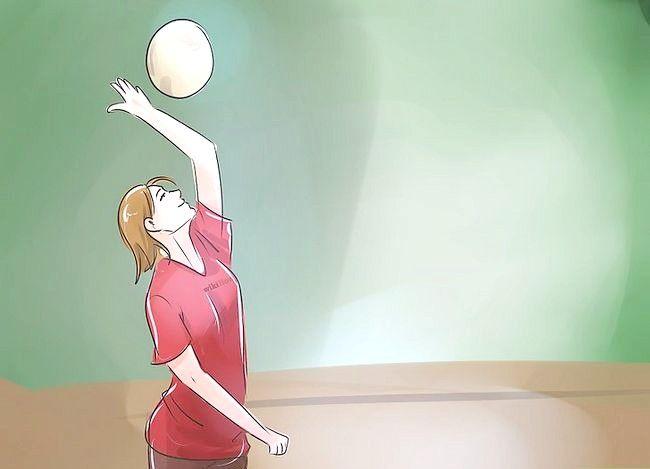 Prent getiteld Wees goed op Volleyball Stap 4