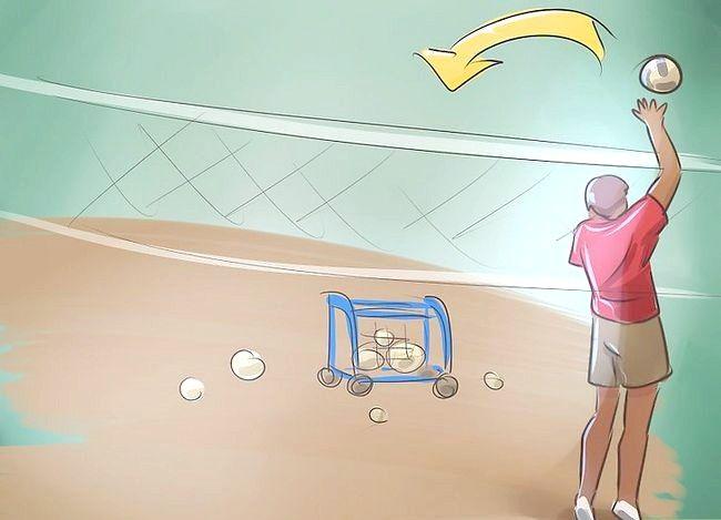 Prent getiteld Wees goed op volleybal Stap 9