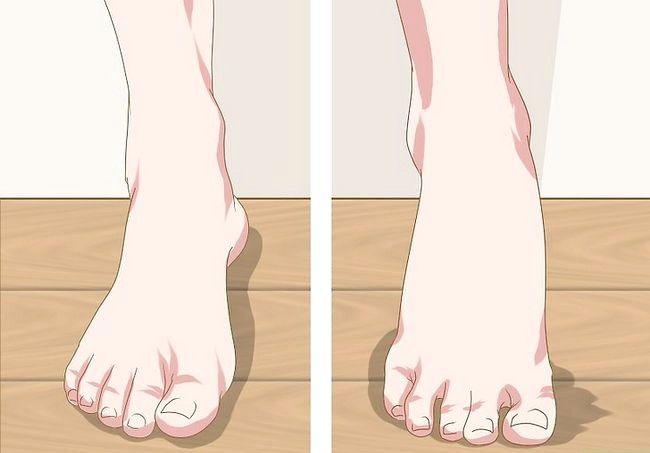 Prent getiteld `n voetmodel Stap 11 wees