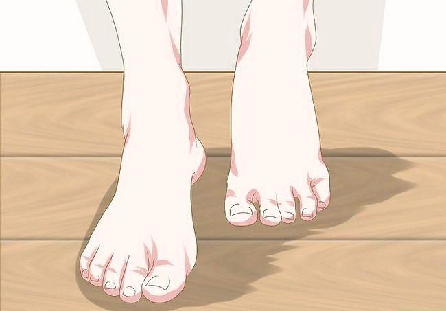 Prent getiteld `n voetmodel Stap 6