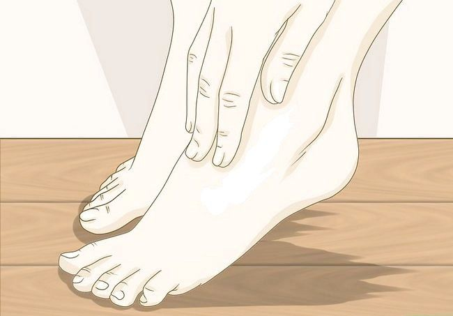 Prent getiteld `n voetmodel Stap 10 wees