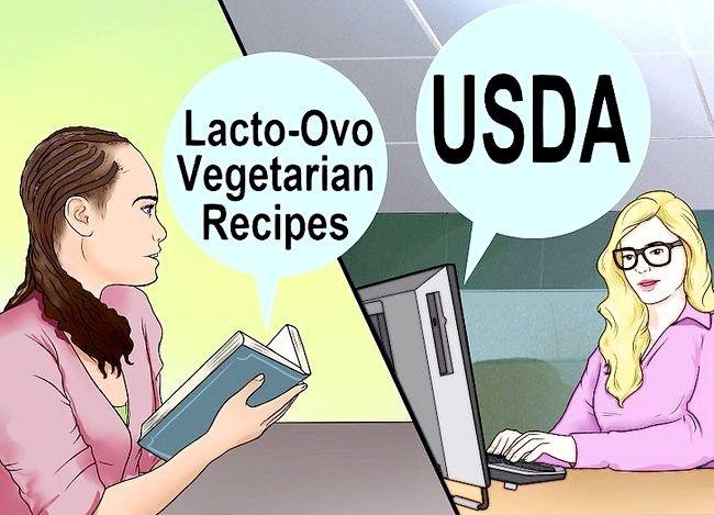 Prent getiteld `n Lacto Ovo Vegetariese Stap 16 wees