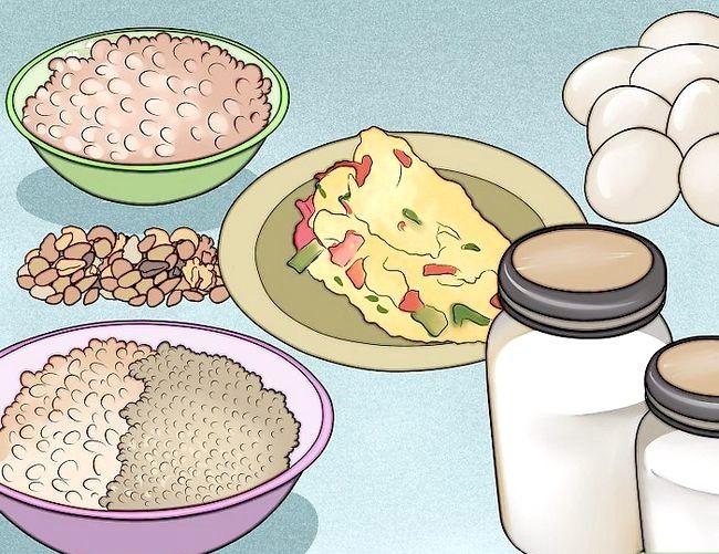 Prent getiteld `n Lacto Ovo Vegetariese Stap 6 wees