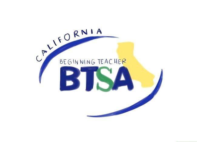 Prent getiteld `n Spesiale Onderwys Onderwyser in Kalifornië Stap 9